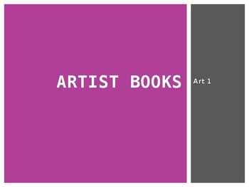 Artist Books based on a Theme