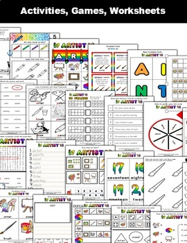 Artist Classroom Center Activity Bundle