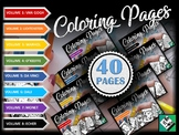 Artist Coloring Pages 40pg BUNDLE! Great for early finishers free art, sub plans