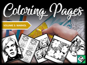 Artist Coloring Pages: Andy Warhol (Great for early finishers, free art & subs)