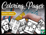 Artist Coloring Pages: Andy Warhol (Great for early finish