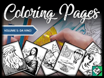 Artist Coloring Pages: Da Vinci (Great for early finishers, free art & subs)