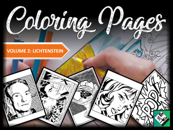 Artist Coloring Pages: Lichtenstein (Great for early finishers, free art & subs)