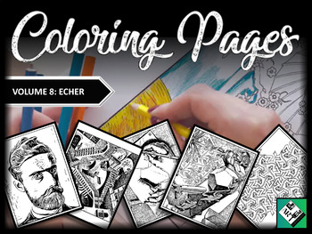 Artist Coloring Pages: MC Escher (Great for early finishers, free art & subs)