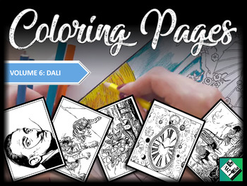 Artist Coloring Pages: Salvador Dali Great for early finishers, free art & subs