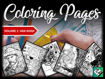 Artist Coloring Pages: Van Gogh (Great for early finishers, free art & sub plan)