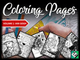 Artist Coloring Pages: Van Gogh (Great for early finishers