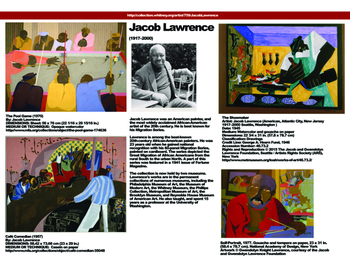 Artist Educational Poster: Jacob Lawrence