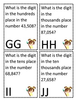 Artist Game Board 5 Digit Place Value