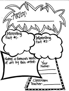 Artist Graphic Organizer