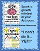 Artist Growth Mindset Posters and Exit Tickets