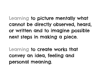 Artist Habits of Mind- Printable Postable Descriptions