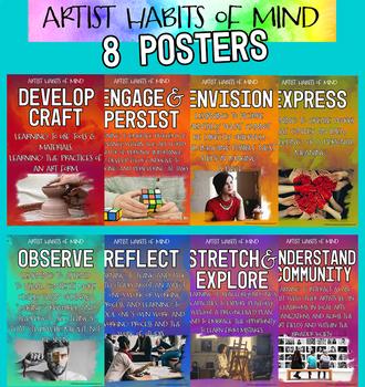 Artist Habits of Mind Studio Posters Art Graphic Design Class Classroom decor
