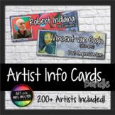 Artist Information Cards: Modern Art Movement Bundle