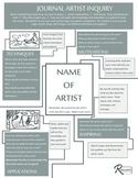 Artist Inquiry Sheet