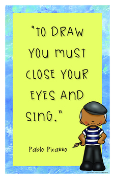 Art History Inspirational Posters: Pablo Picasso