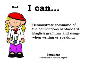 Artist Kindergarten English Common core standards posters