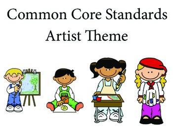 Artist Kindergarten English Common core standards posters