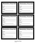 Artist Labels for Display