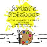 Artist Notebook Grade 5-7   *VISUAL ART* Lesson Plans