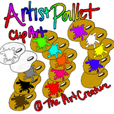 Artist Paint Pallet CLIP ART
