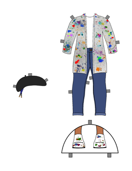 Artist Paper Doll Outfit