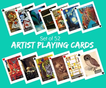 Artist Playing Cards Game Art Classroom Management Art History Cards Go Fish