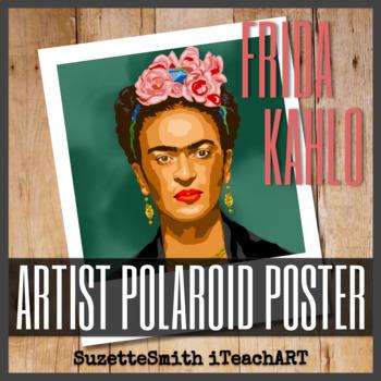 Artist Polaroid Poster - Frida Kahlo