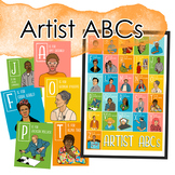 Artist Portrait ABCs Poster and Flash Cards