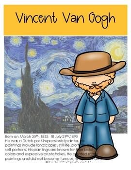 Artist Poster Vincent Van Gogh