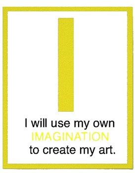 Artist Posters for your Art Room, Daily Chant, Art Rules