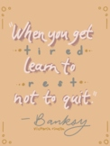 Artist Quote Inspo Poster-Banksy