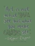 Artist Quote Inspo Poster-Degas