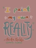 Artist Quote Inspo Poster-Kahlo