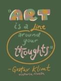 Artist Quote Inspo Poster-Klimt