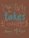 Artist Quote Inspo Poster-Matisse