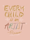 Artist Quote Inspo Poster-Picasso