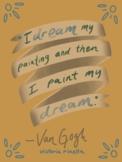 Artist Quote Inspo Poster-Van Gogh