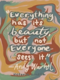Artist Quote Inspo Poster-Warhol