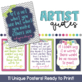 Artist Quote Posters!
