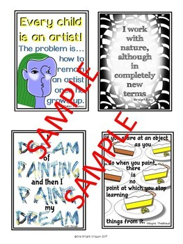 Art Posters - Artist Quotes -Bulletin Board Ideas - Wall Decorations