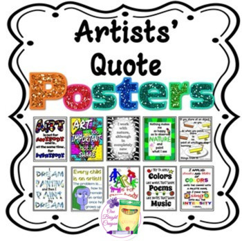 Art Posters - Artist Quotes -Bulletin Board Ideas - Wall D