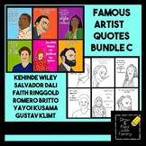 Artist Quotes Bundle C with Inspiring Words Printable Posters and Coloring Pages
