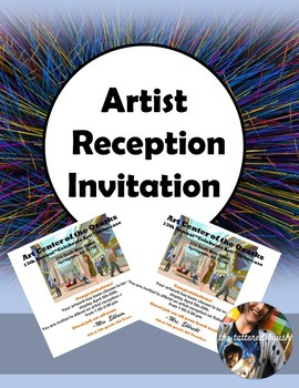 Artist Reception Invitation (Editable, FREE!)