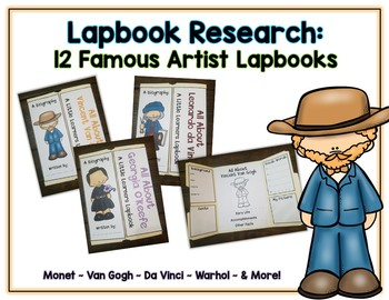 Artist Reports - 12 Lapbooks for Research & Informational Writing