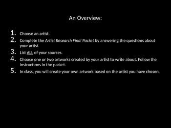 Artist Research Final Power Point Presentation