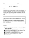 Artist Research Paper Guidelines