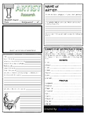 Artist Research Worksheet