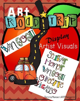 Artist Road Trip: Name Labels and Visuals