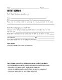Artist Search worksheet